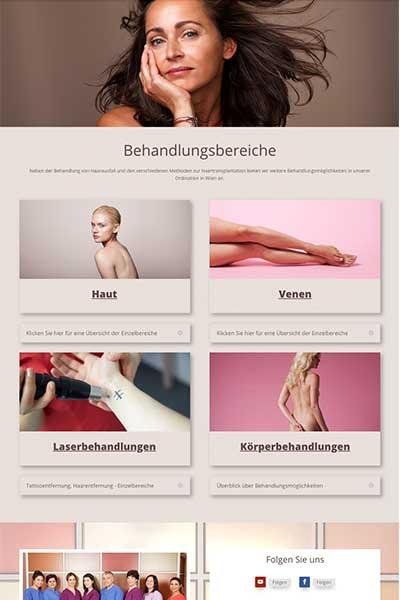 Webdesign für Wien-haartransplantation.at Dr. Kohrgruber Wien